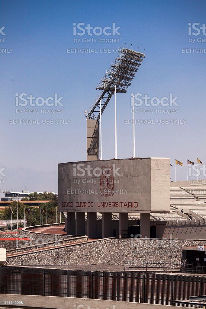 Mexico Olympic stadium stock photo