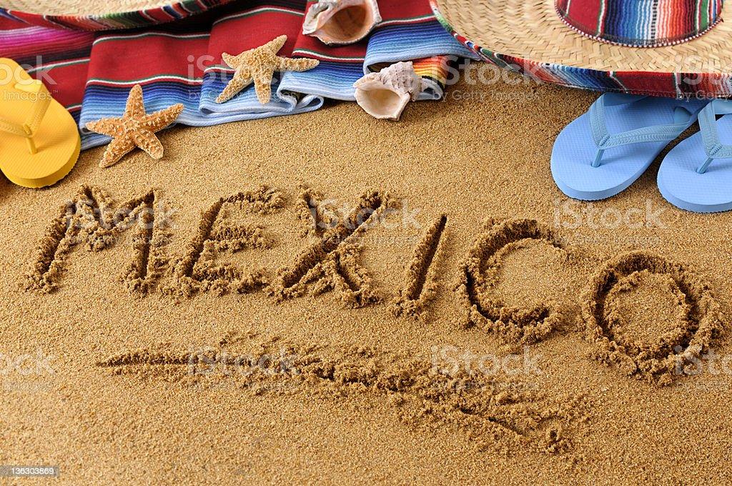 Mexico on a beach royalty-free stock photo