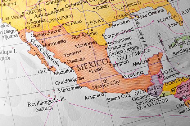 méxico - mapa mundi imagens e fotografias de stock