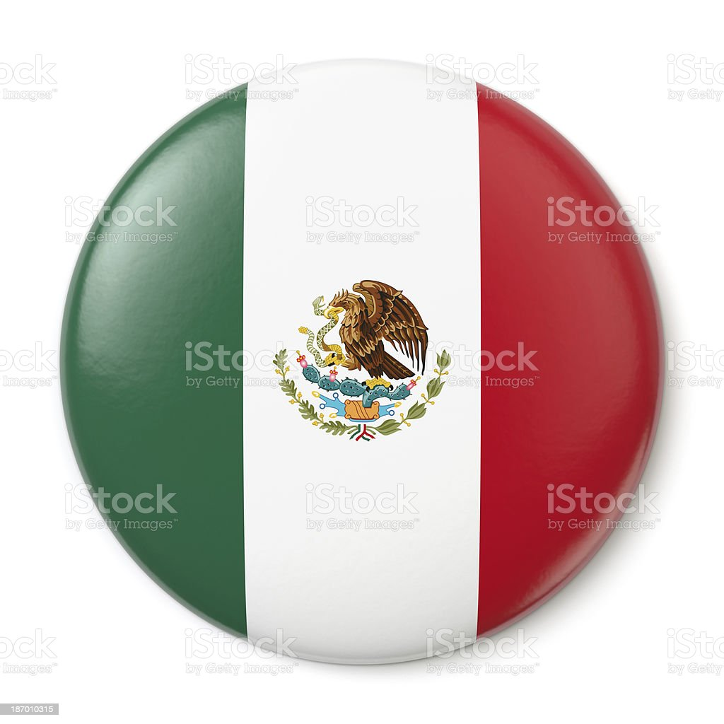 Mexico Pin-back royalty-free stock photo