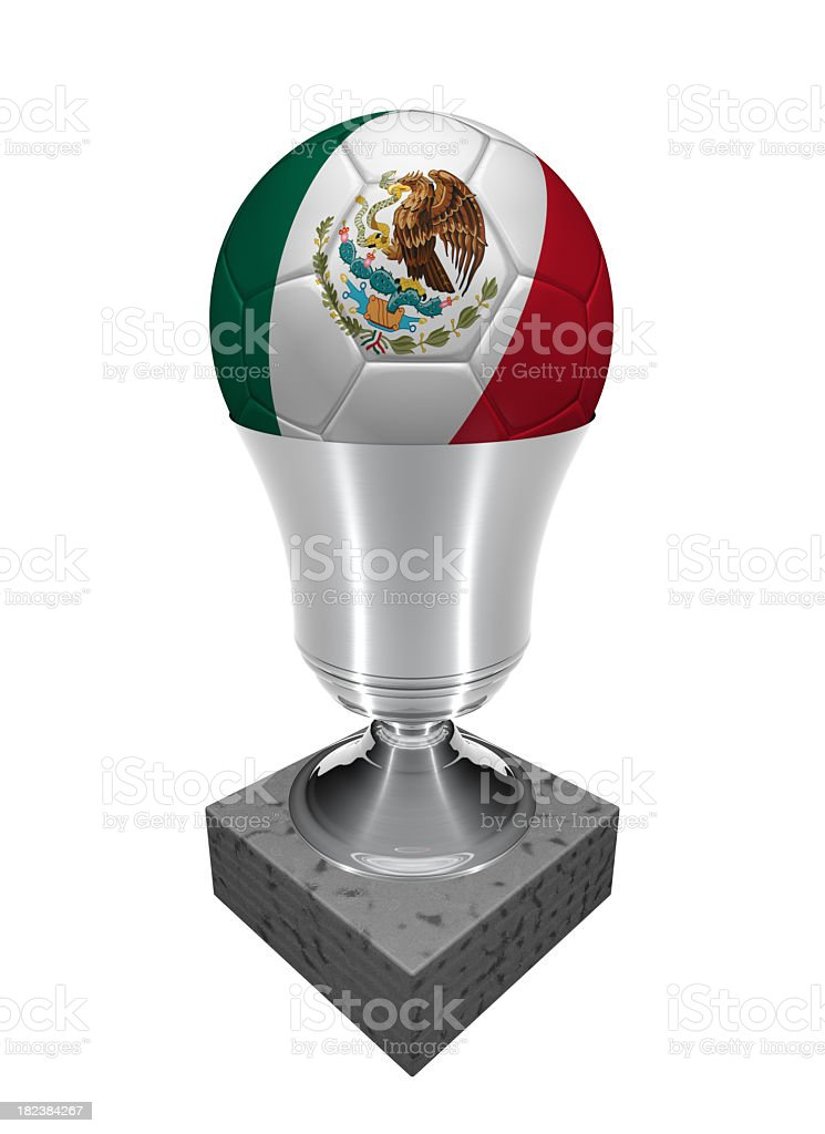 mexico soccer ball in a trophy royalty-free stock photo