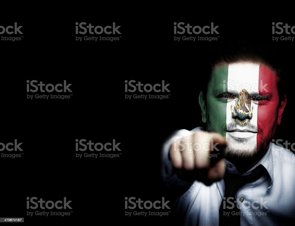 Mexico Sport Soccer Fan royalty-free stock photo