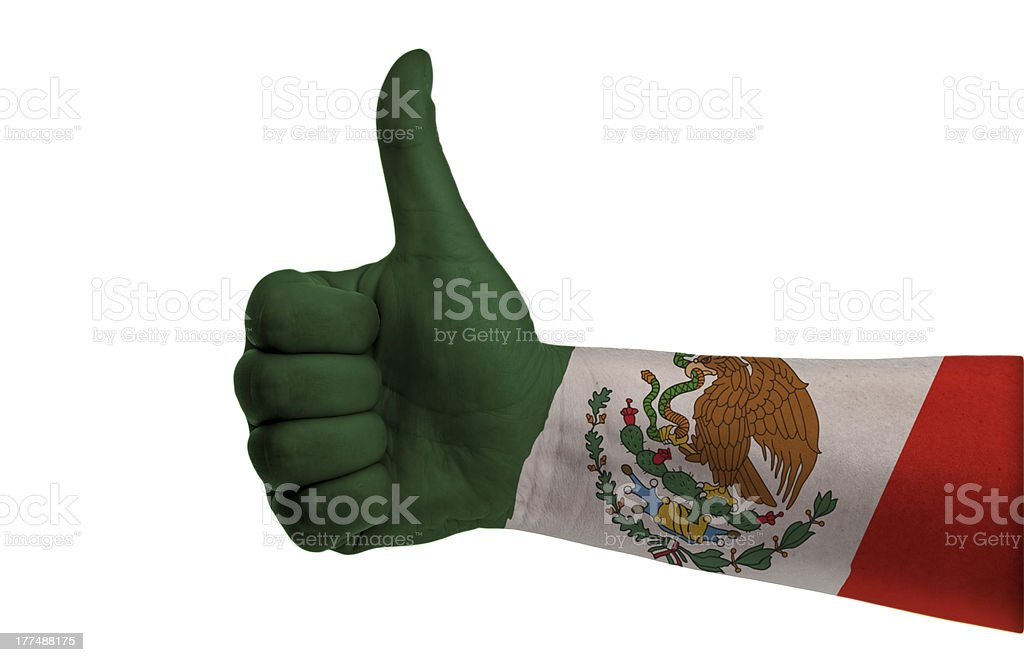 Mexico thumb up royalty-free stock photo