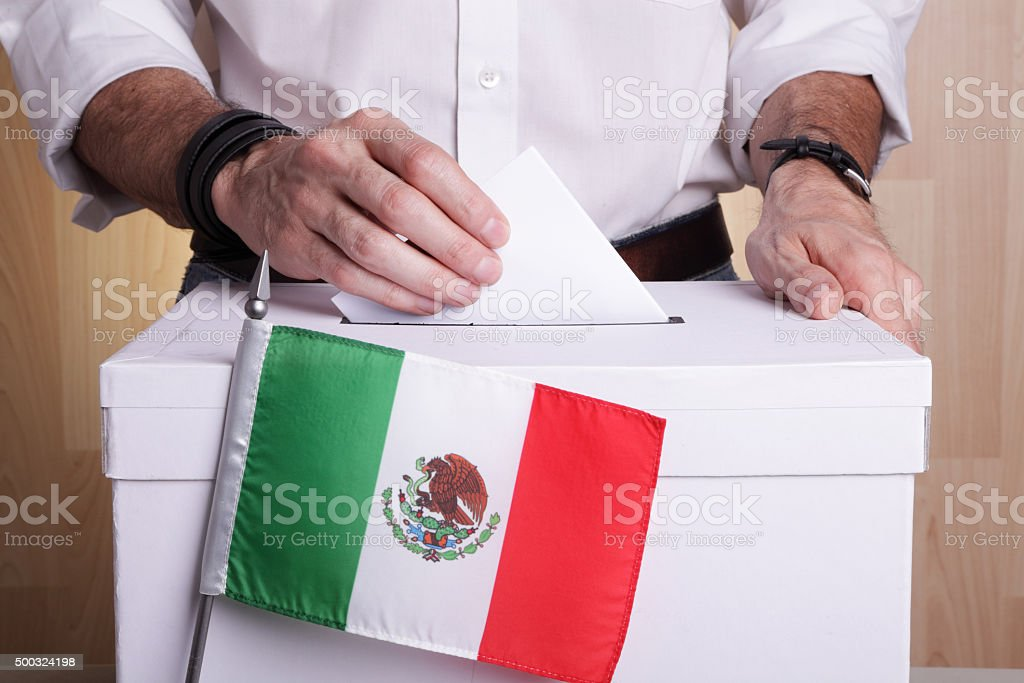 Mexico to vote stock photo