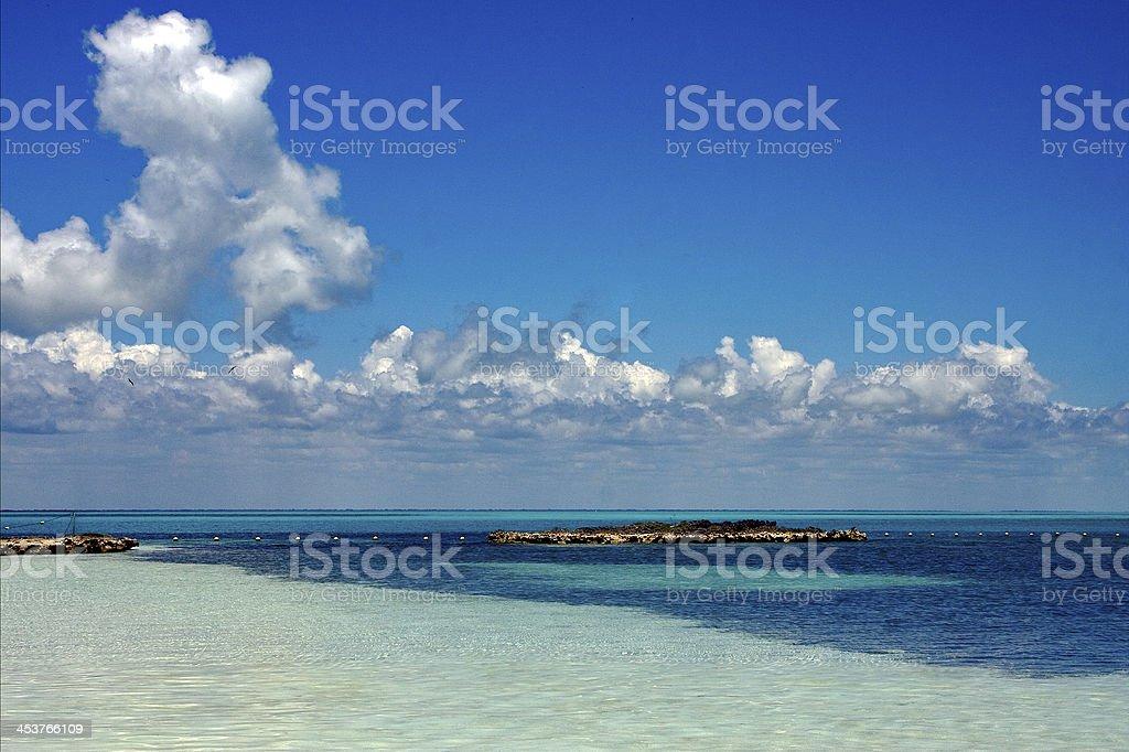 mexico tropical lagoon hill stock photo