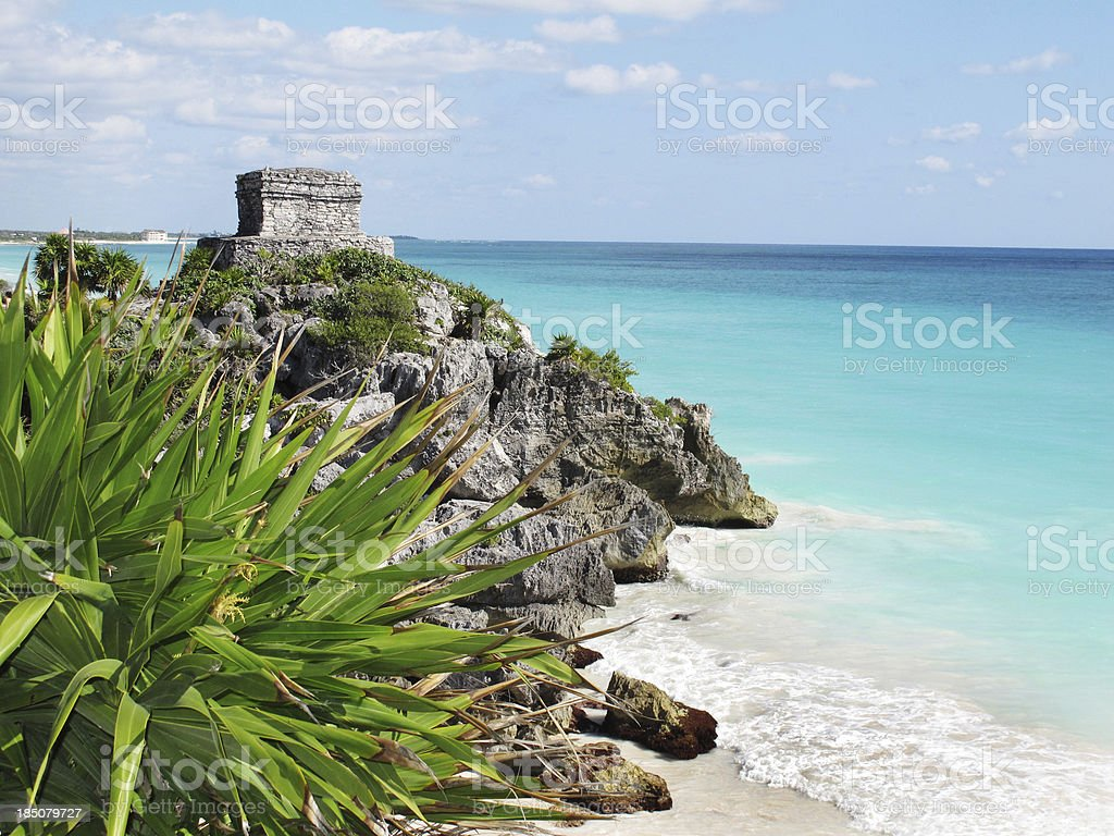 Mexico Tulum Ancient Temple Ruin royalty-free stock photo