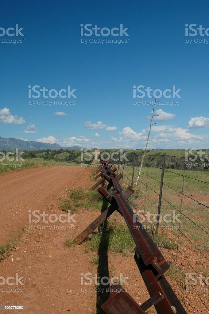 Mexico/Arizona Border stock photo