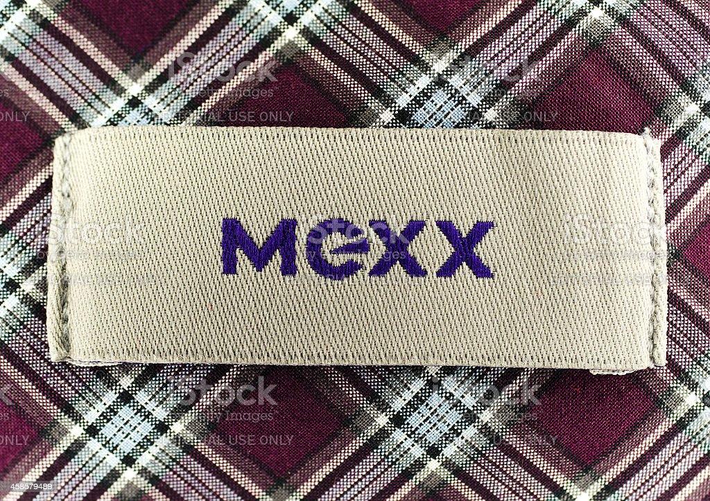 Mexx logo on shirt label bildbanksfoto