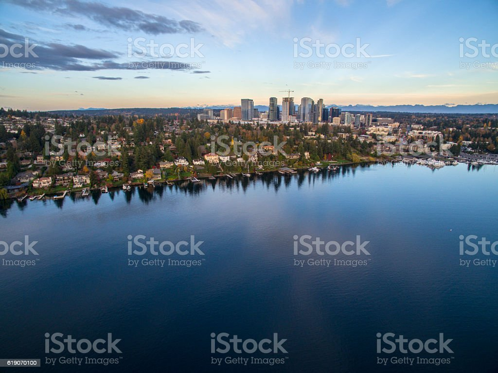 Meydenbauer Bay, Bellevue, Lake Washington, USA 스톡 사진