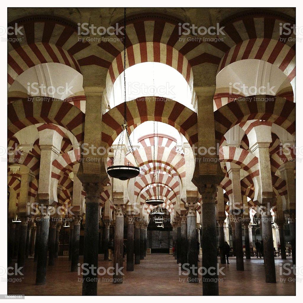 Mezquita Arches stock photo