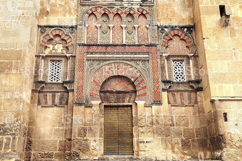 Mezquita Gate, Calle Torrijos, Córdoba, Spain stock photo