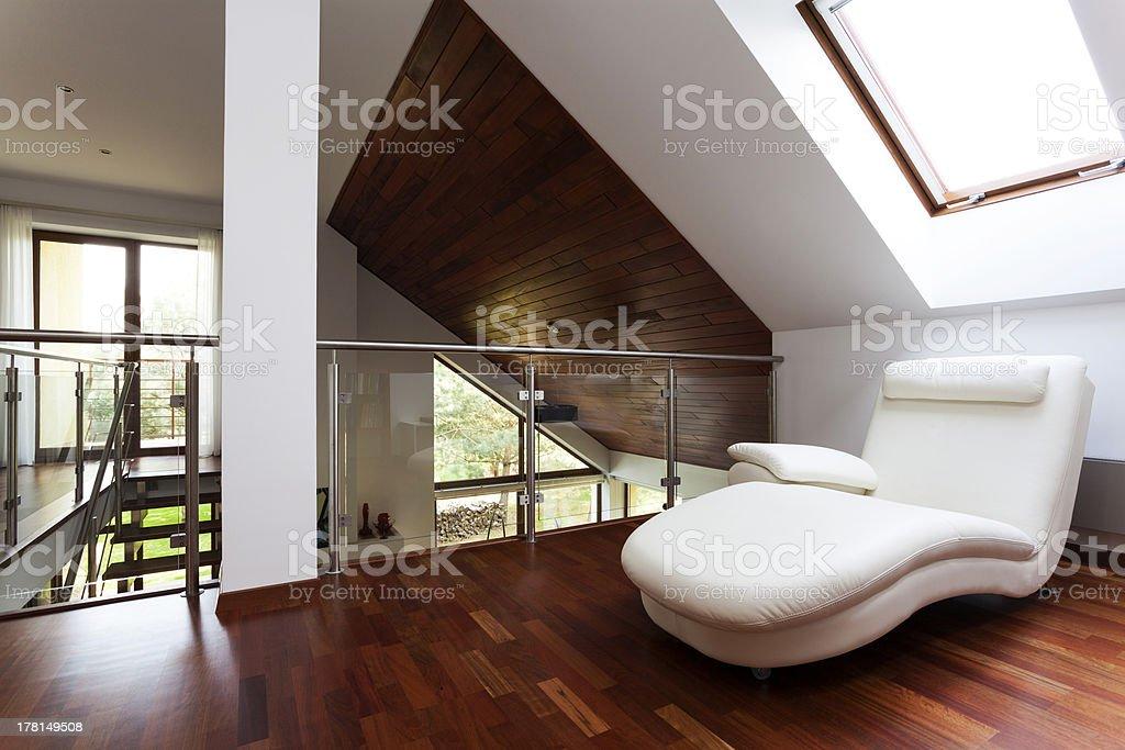Mezzanine with armchair royalty-free stock photo