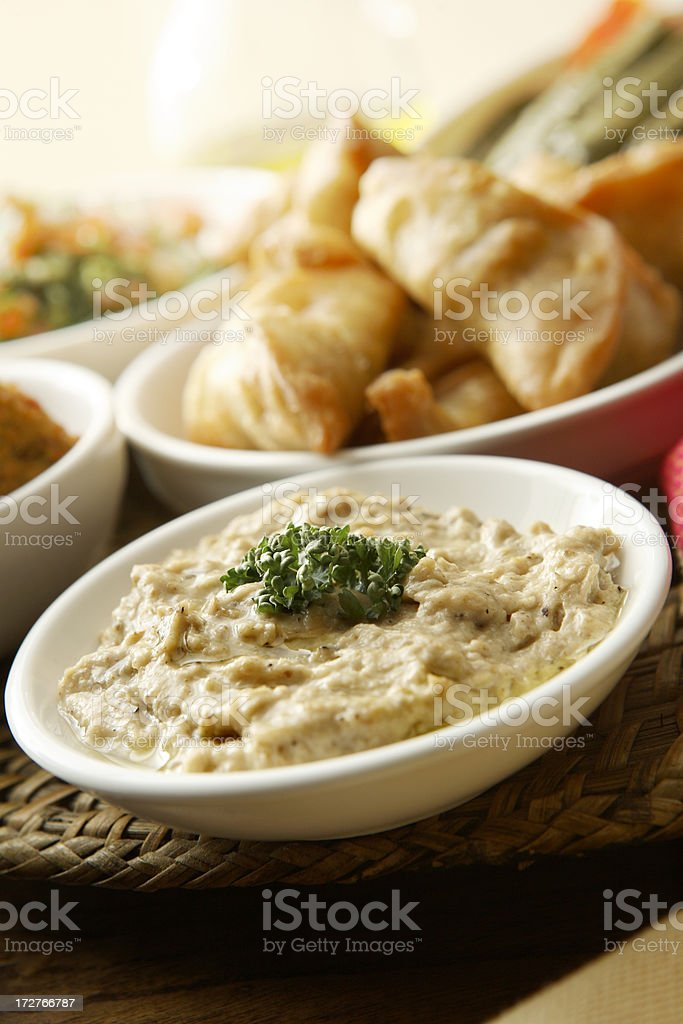 Mezze: Baba Ghanoush stock photo