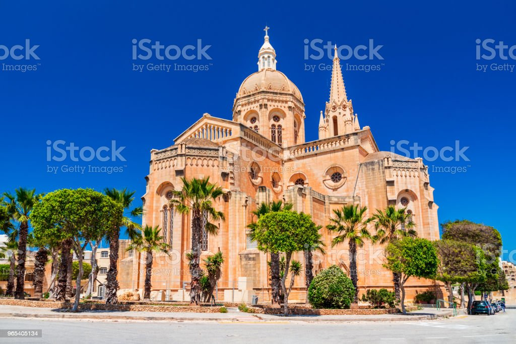 Mgarr, Malta - Gothic church in Gozo Island royalty-free stock photo
