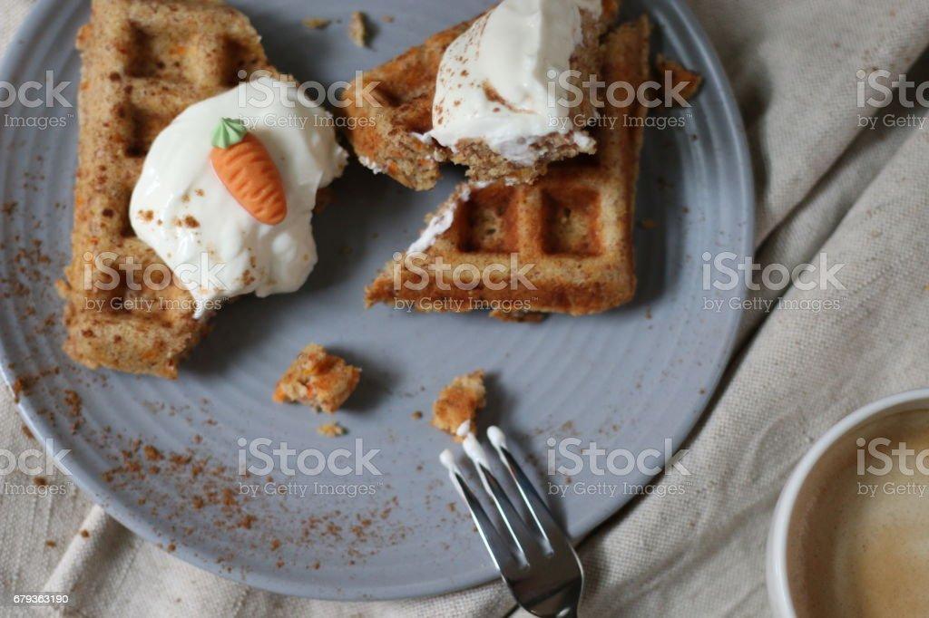 Möhrenkuchen-Waffeln royalty-free stock photo