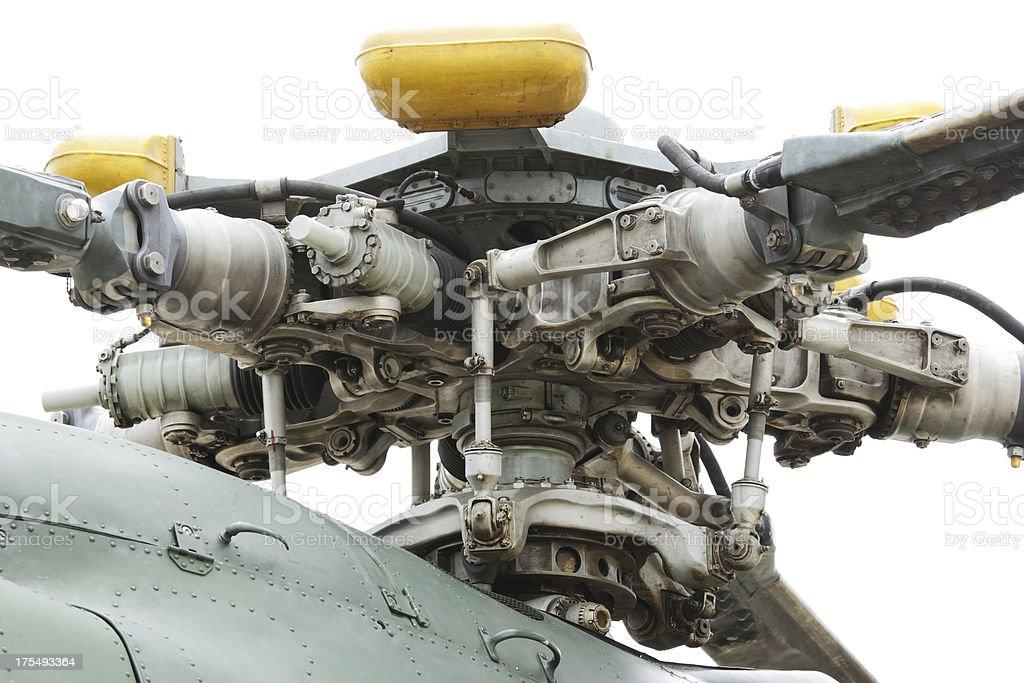 Mi-17 main rotor stock photo