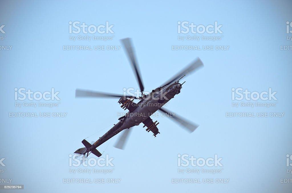 Mi-24 helicopter on Radom Airshow, Poland stock photo