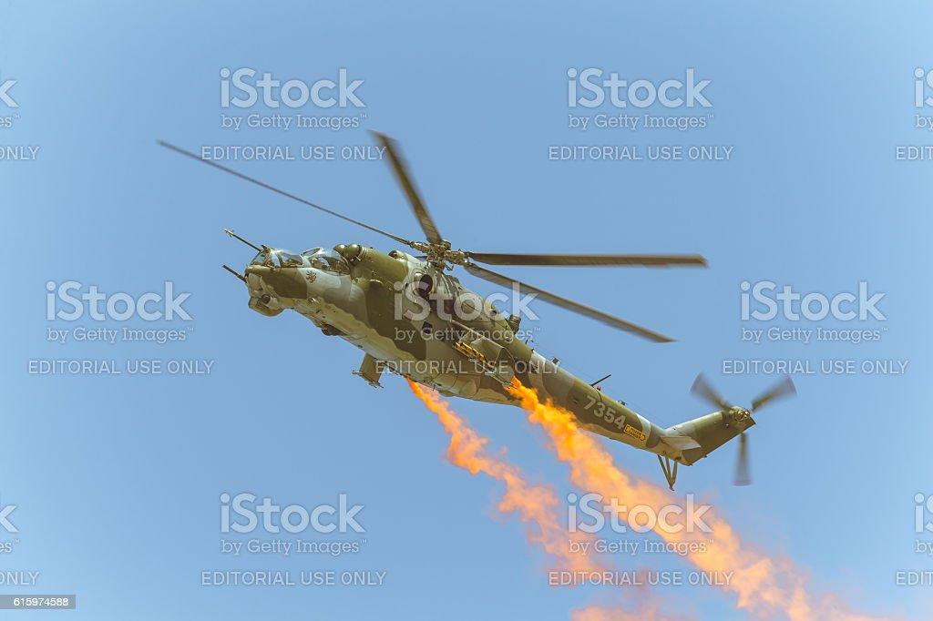 Mi-24V 7354 at ILA Berlin Air Show 2014 stock photo