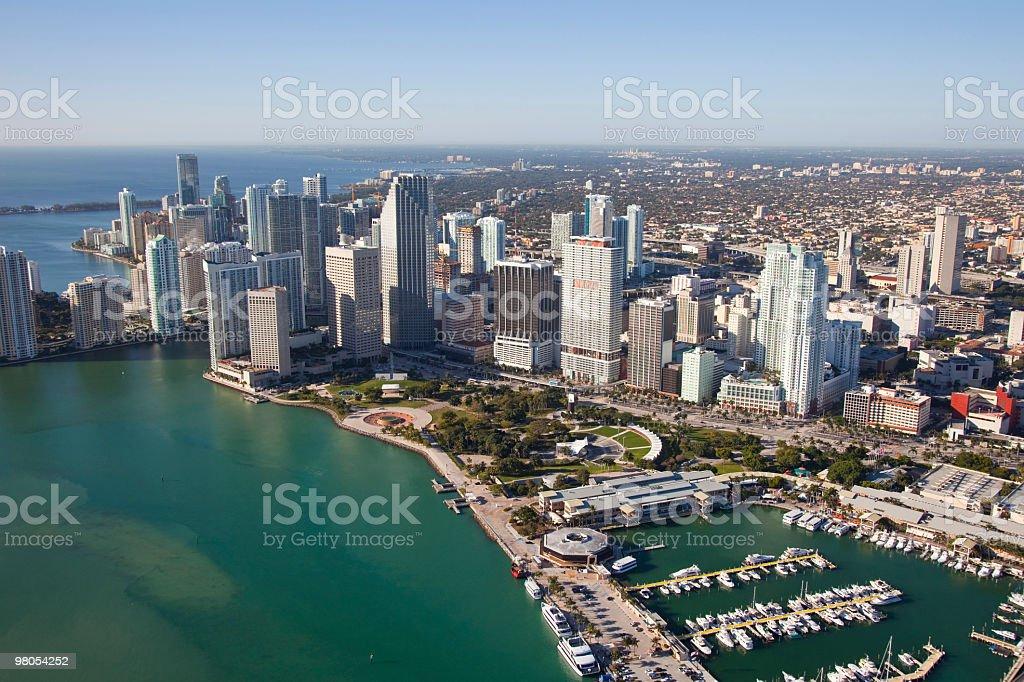 Miami Aerial royalty-free stock photo