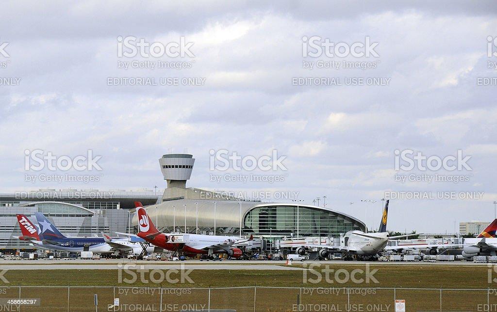 Miami airport terminal stock photo