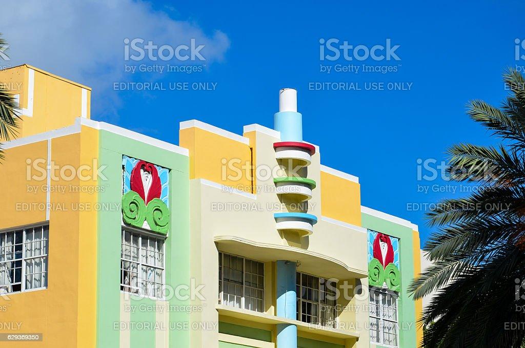 Miami Art Deco Hotel stock photo