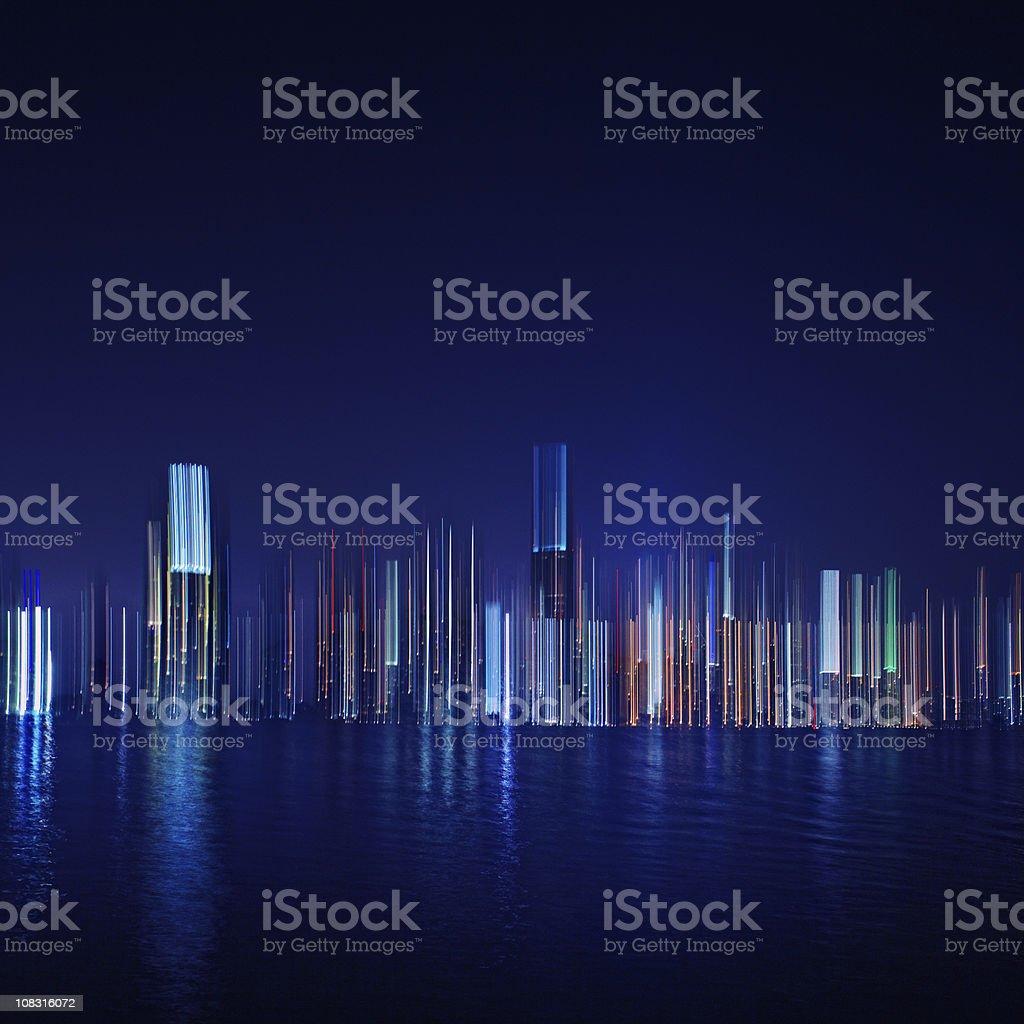 miami at night abstract royalty-free stock photo