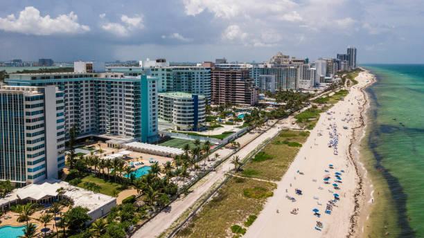 Miami Beach Aerial North View stock photo