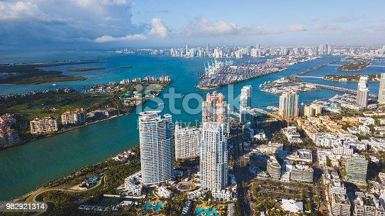 istock Miami Beach aerial shot 982921314