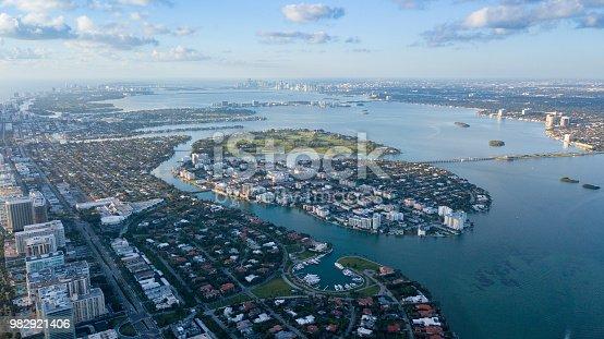 istock Miami Beach aerial shot 982921406