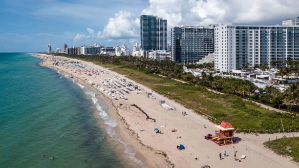 Miami Beach Aerial South View stock photo