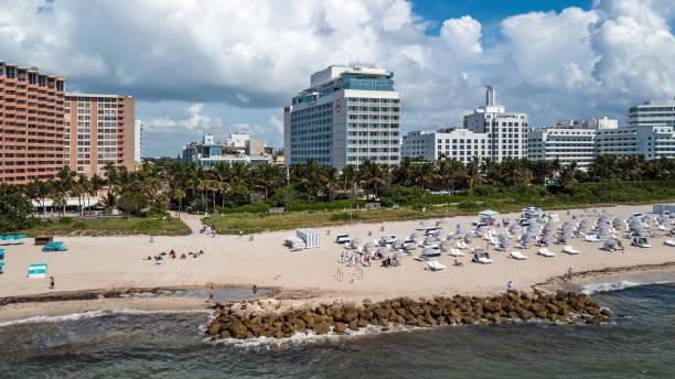 Miami Beach Aerial View on 29 Street stock photo