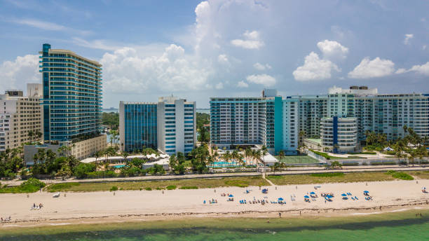 Miami Beach Aerial West View stock photo