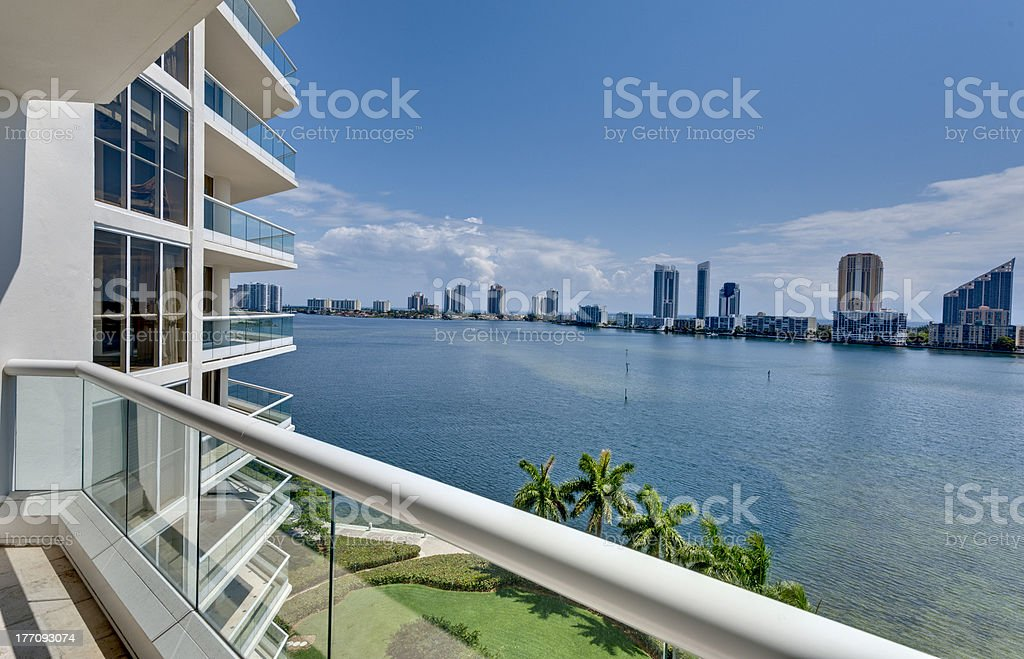 Miami Beach Balcony stock photo