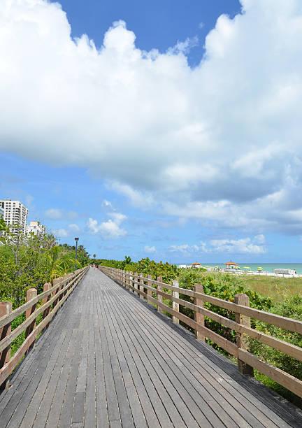 Miami Beach Boardwalk stock photo