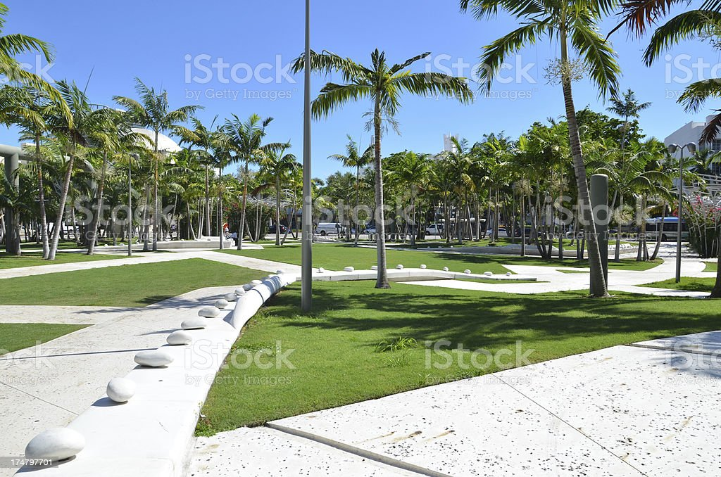 Miami Beach - City Centre Park stock photo