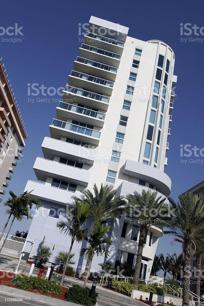 Miami Beach Condominium royalty-free stock photo