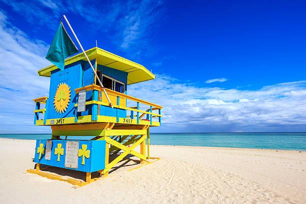 miami beach florida - badvaktshytt bildbanksfoton och bilder