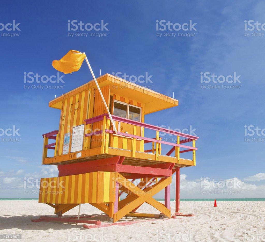 Miami Beach na Florydzie, ratownik Dom latem sceny z – zdjęcie