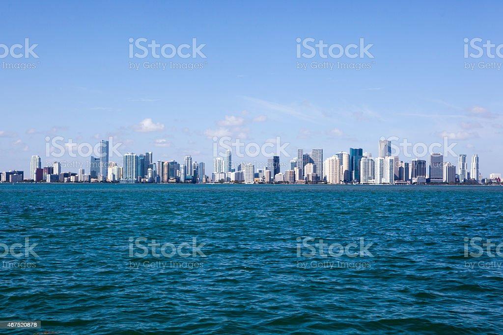 Miami Beach Florida Travel Destination, Downtown Skyline of City stock photo