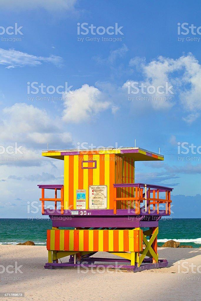 Miami Beach Florida USA, Art Deco lifeguard house royalty-free stock photo
