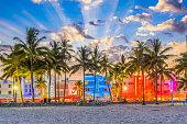 Miami Beach, Florida, USA on Ocean Drive.