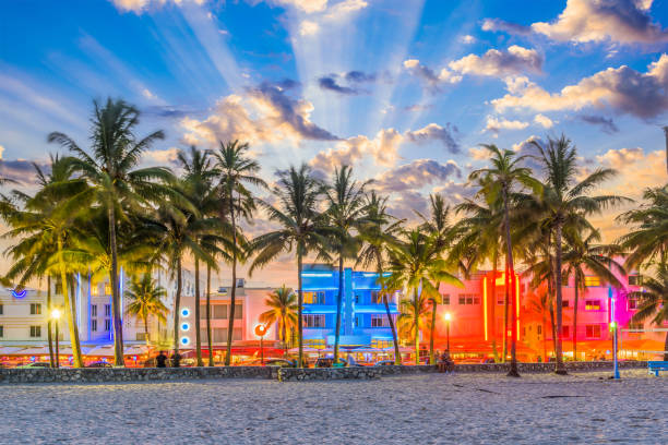 miami beach florida usa - south stock pictures, royalty-free photos & images