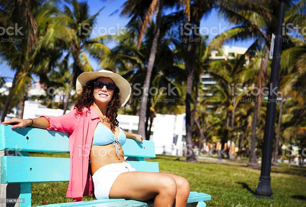 Miami Beach Girl royalty-free stock photo