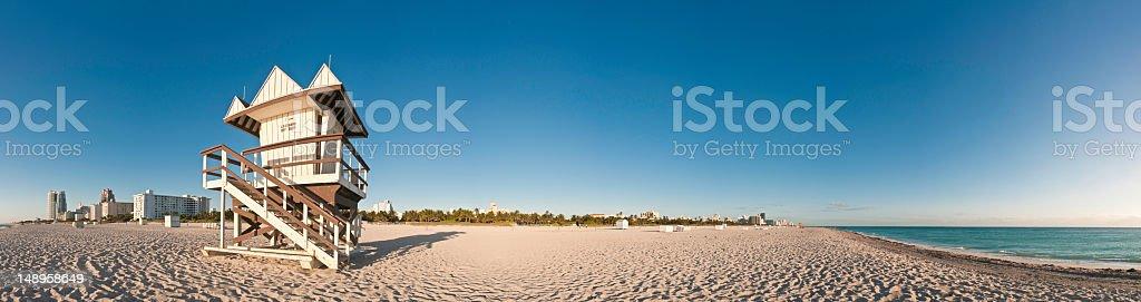 Miami beach hut hotels panorama stock photo