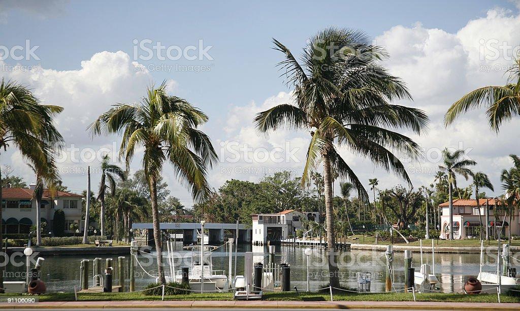 Miami Beach - Indian Creek stock photo