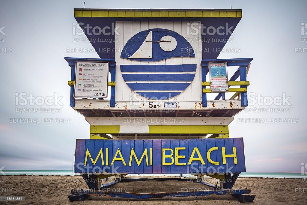 Miami Beach Lifeguard Tower Stock Photo - Download Image Now