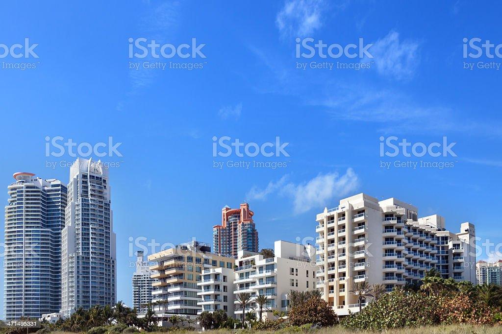 Miami Beach Luxury Condominiums royalty-free stock photo