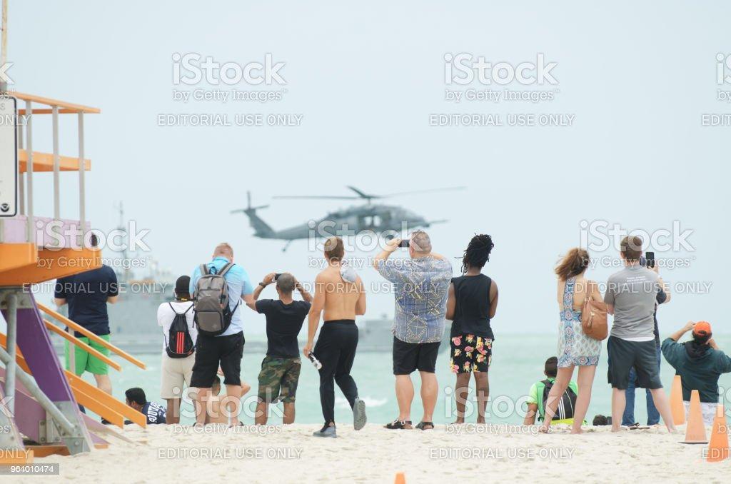 マイアミ ・ ビーチ ・ メモリアルデーの週末航空ショー - アメリカ合衆国のロイヤリティフリーストックフォト