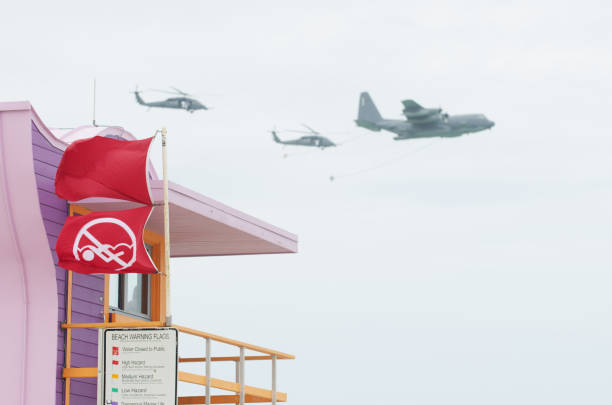 miami beach memorial day weekend air show - memorial day weekend stock pictures, royalty-free photos & images