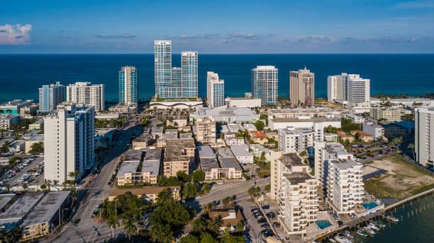 Miami Beach North Beach Aerial East View stock photo
